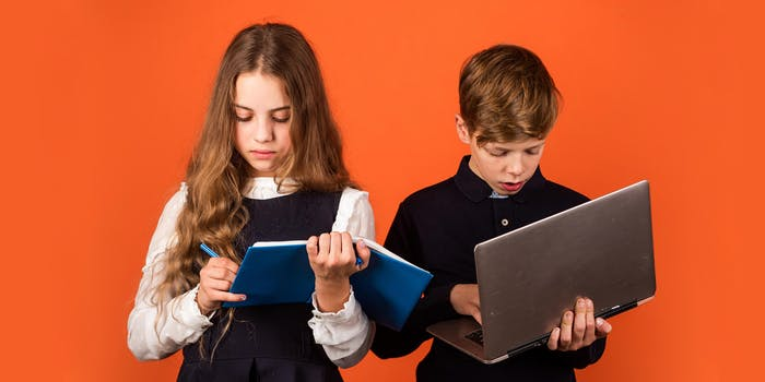 kids with laptops