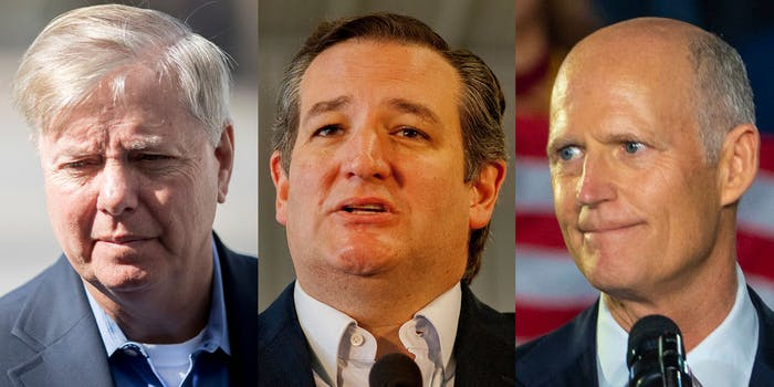 lindsey graham, ted cruz, florida man rick scott