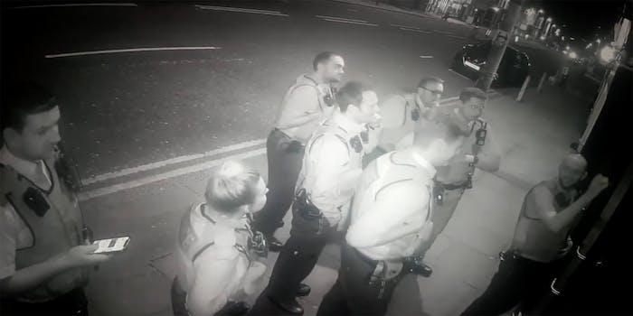 police raid comedy club