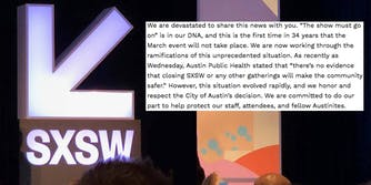 Statement from SXSW on 2020 cancellation