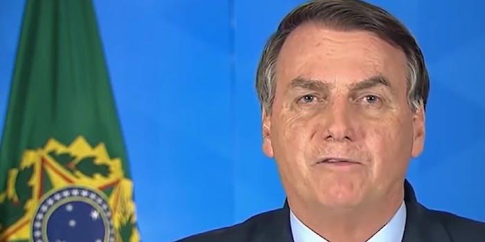 Jair Bolsonaro telling people not to worry about coronavirus