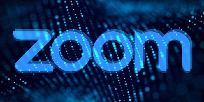 zoom logo over lights