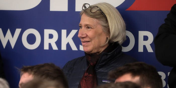 Anita Dunn at Biden campaign office