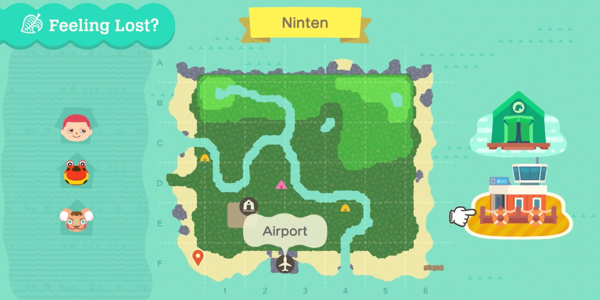 Animal Crossing new horizons details - map