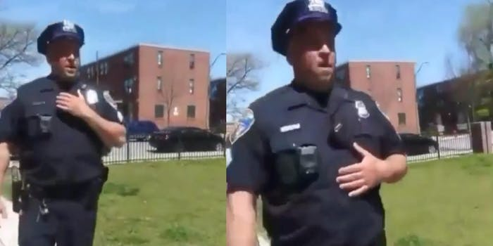 officer coughing