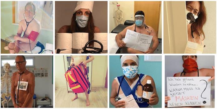 doctors coronavirus nudes blanke bedenken
