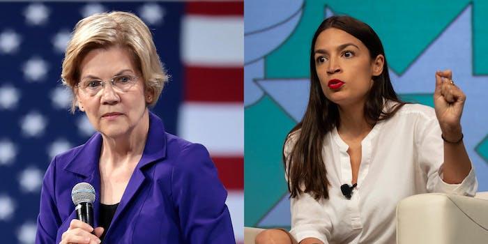 Elizabeth Warren Alexandria Ocasio-Cortez Anti-Monopoly Coronavirus Bill
