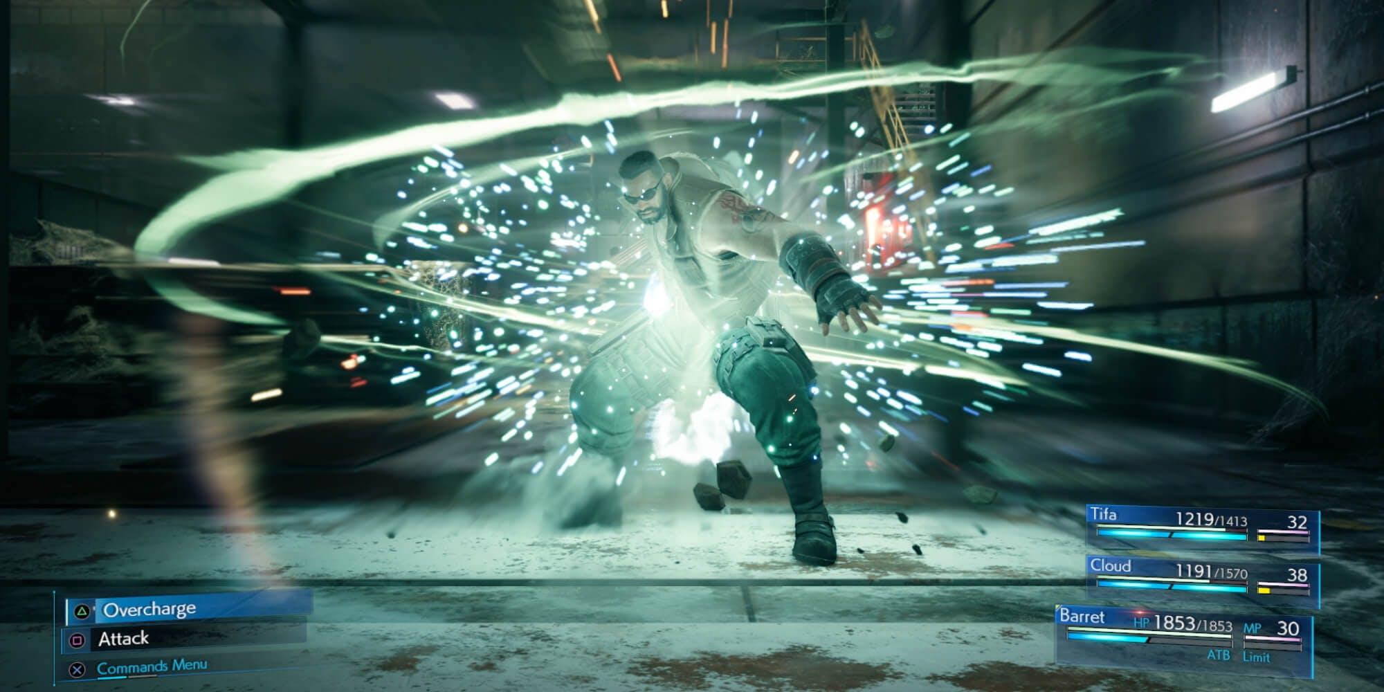 Final Fantasy VII Remake - combat