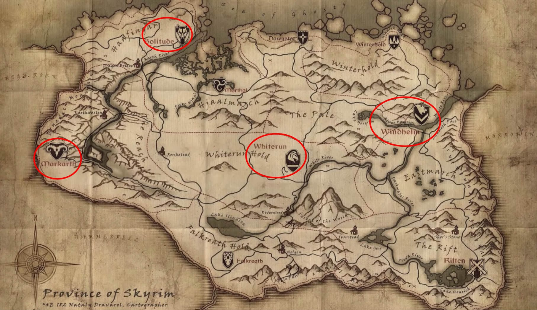 Skyrim - Map thieves guild