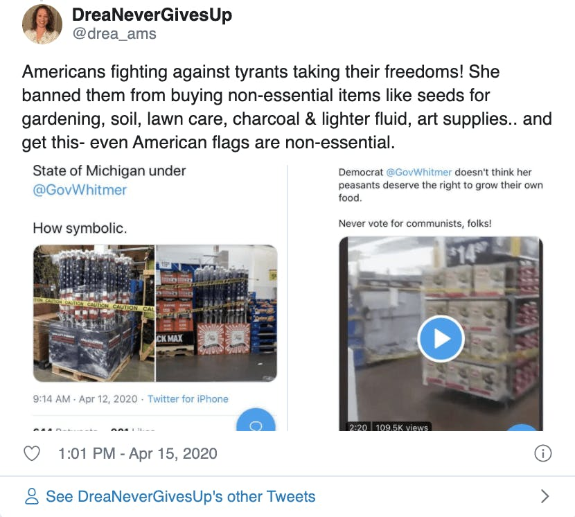 Tweet-spreads-whitmer-american-flag-ban-conspiracy