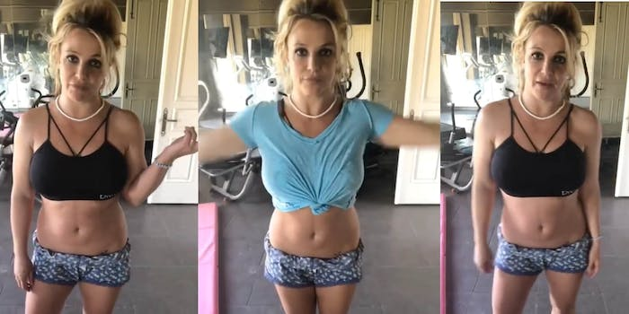 britney spears burnt down gym