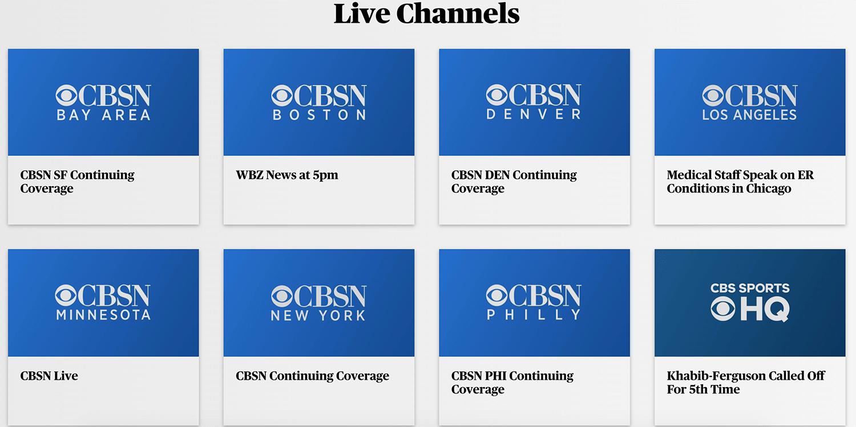 CBSN Channels