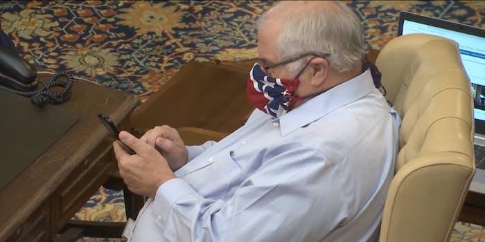 Dale Zorn Confederate mask