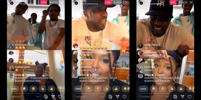 diddy stopping lizzo from twerking on Easter