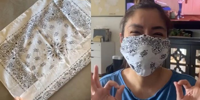 diy coronavirus no-sew mask