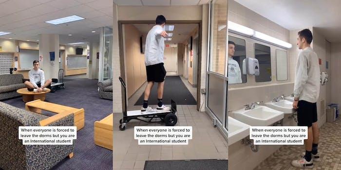 international student isolation tiktok