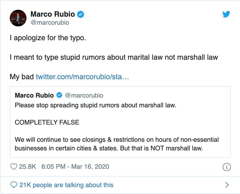 Marco-rubio-tweets-against-national-lockdown