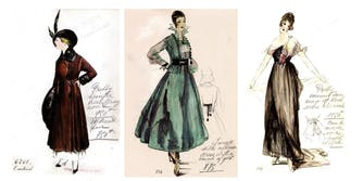House of Worth fashion plates