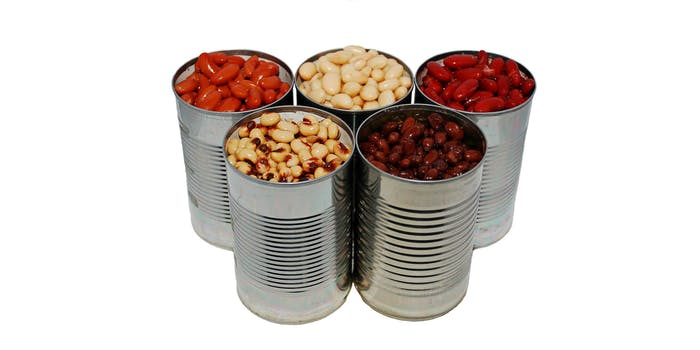 quarantined couple canned beans