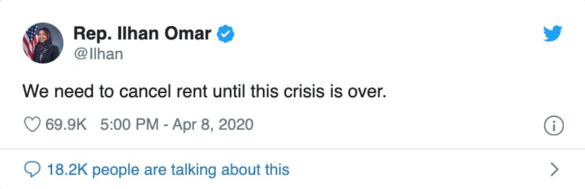 Ilhan-Omar-supports-rent-strike-in-tweet