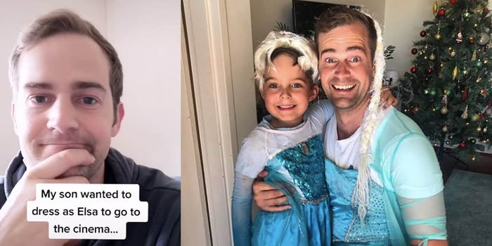 Pictures of Scott Stuart dressed up as Elsa for 'Frozen 2'