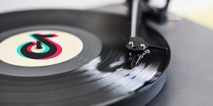 tiktok logo on record album