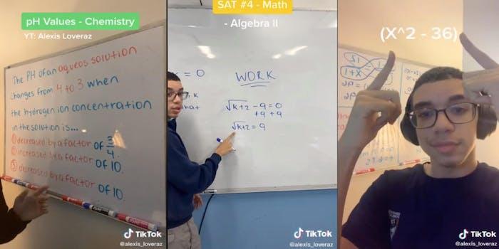 Alexis Lovarez tutors on TikTok