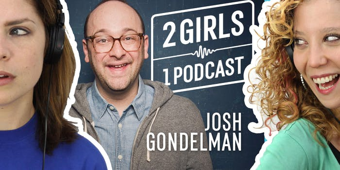 josh gondelman discussing comedy with 2 girls 1 podcast