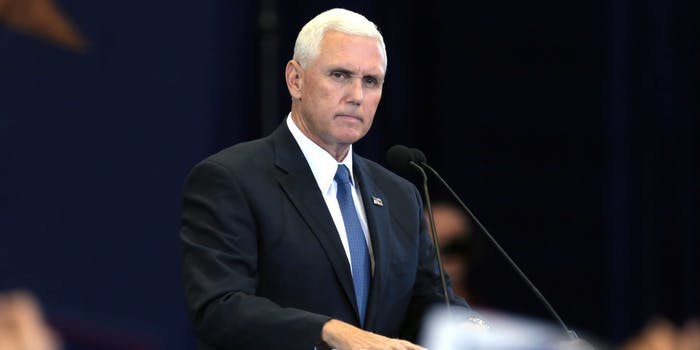 Mike Pence standing at a podium