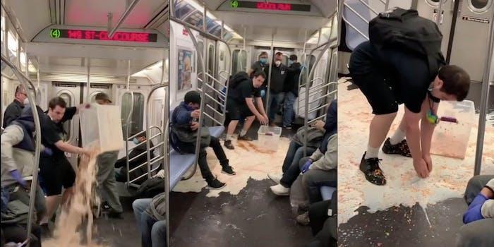 cereal subway mta prank