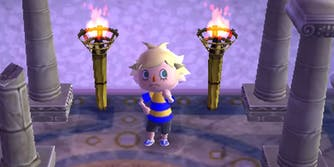 Photo of playable character in Animal Crossing New Leaf and their hair