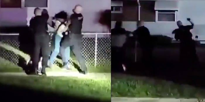Screengrabs show cops physically assaulting two people in Michigan