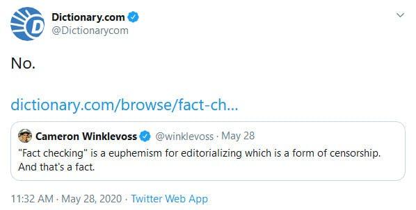 Dictionary Dot Com Winklevoss Fact-Checking