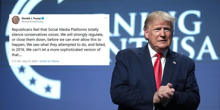 Donald Trump Social Media Close Them Down Twitter Fact Check Mail In Ballots Tweets