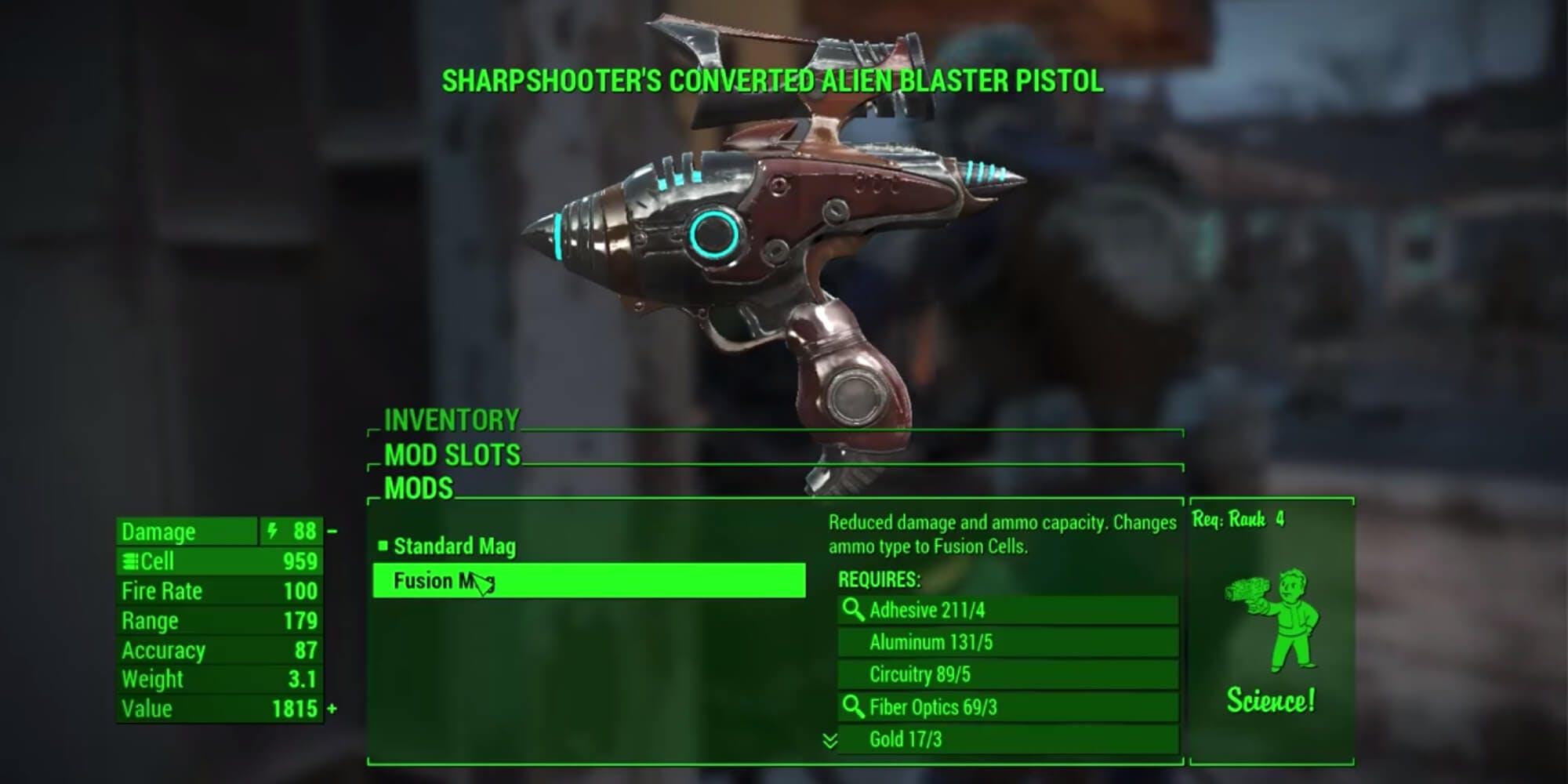 Fallout 4 - alien blaster