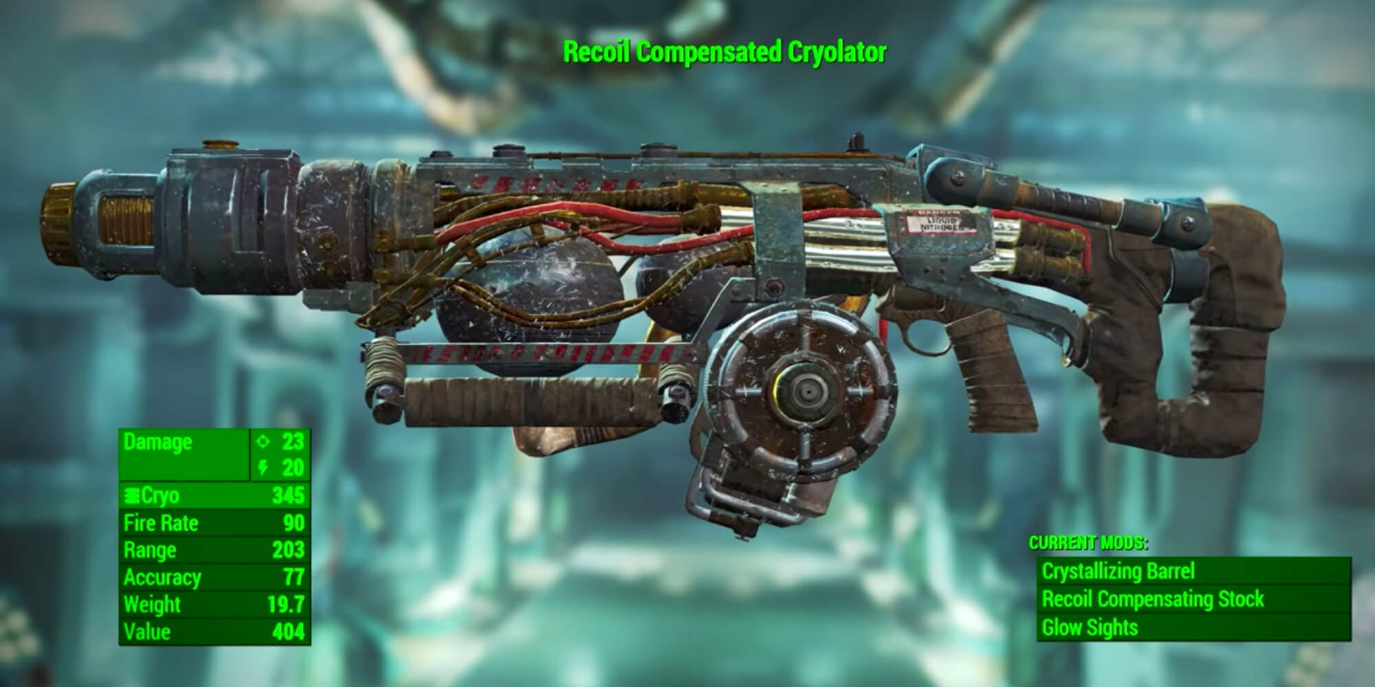 Fallout 4 weapons - Cryolator