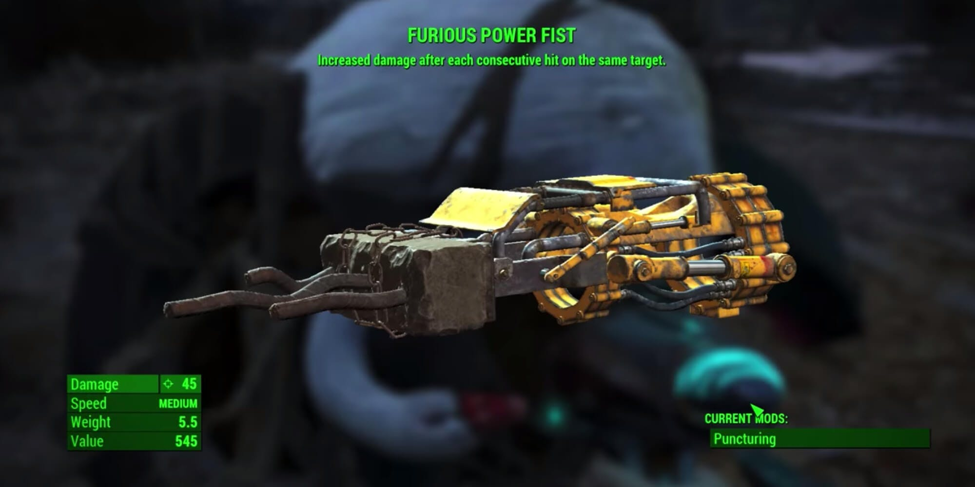 Fallout 4 weapons - Furious Power Fist