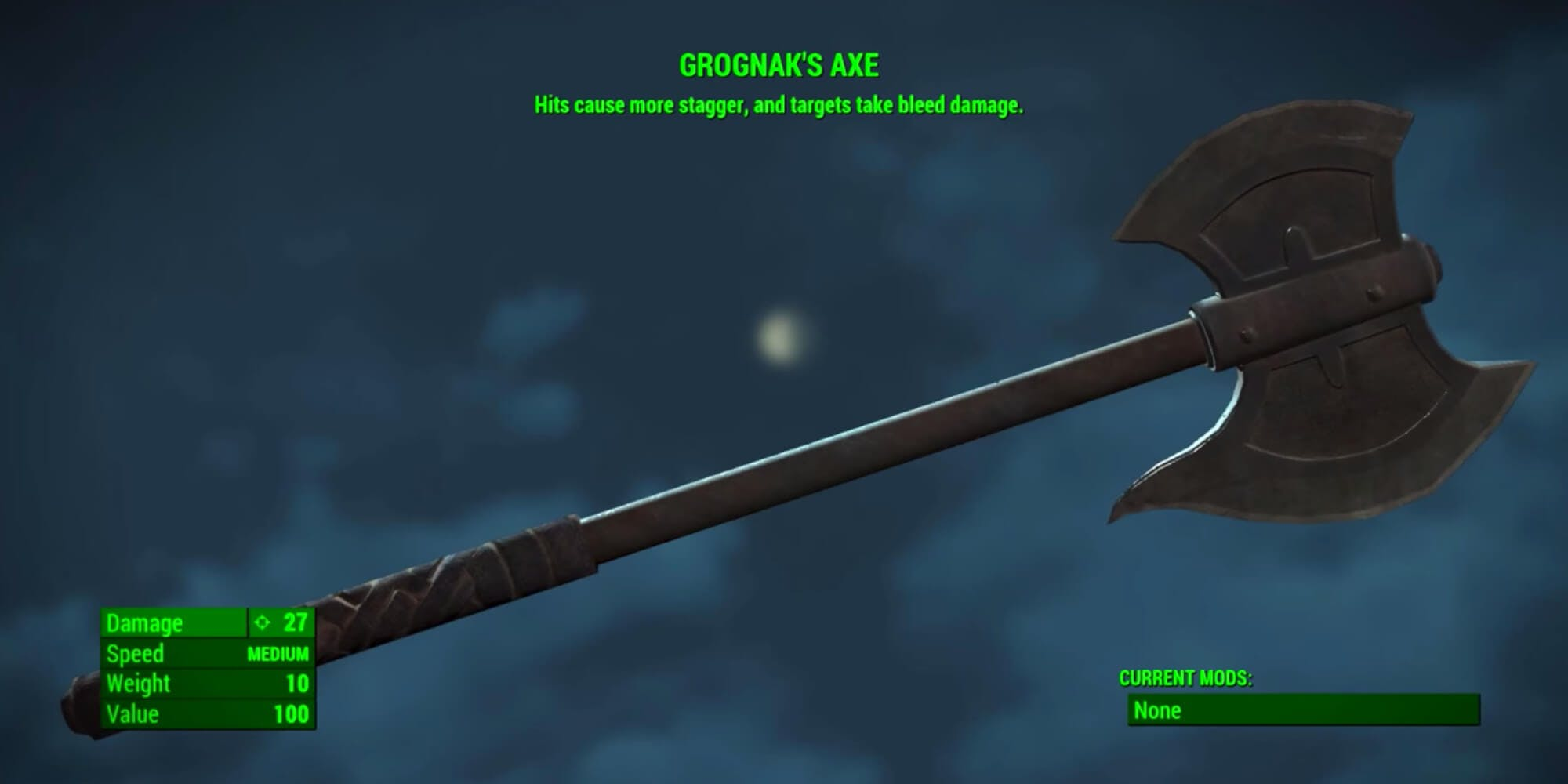 fallout 4 weapons - Grognak's Axe