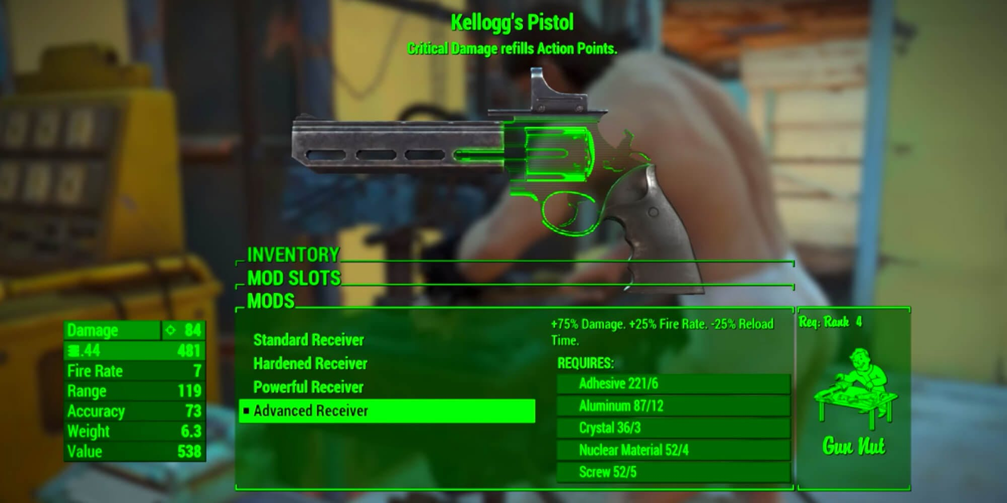 Fallout 4 weapons - Kellog's Pistol