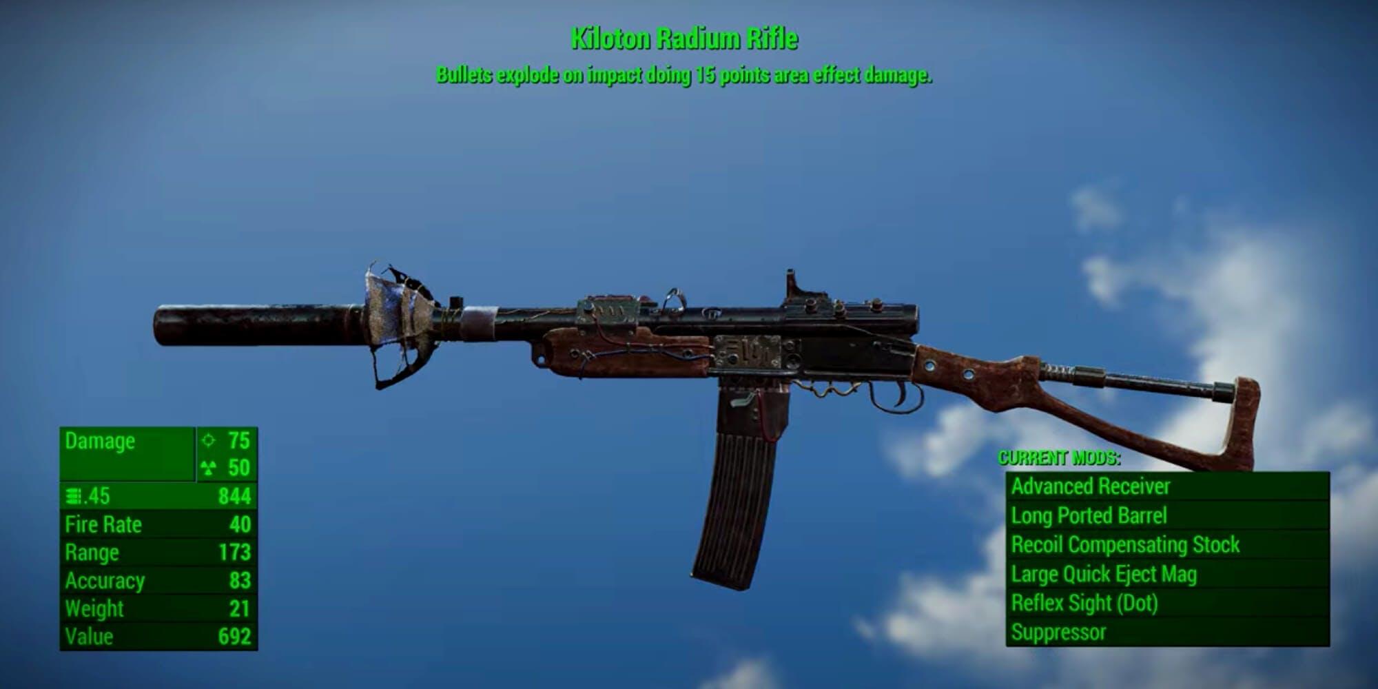 Fallout 4 weapons - Kiloton Radium Rifle