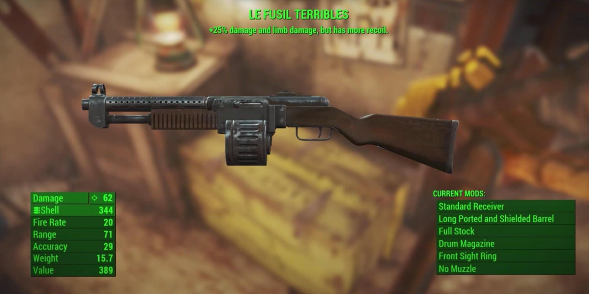 Fallout 4 - Le Fusil Terribles