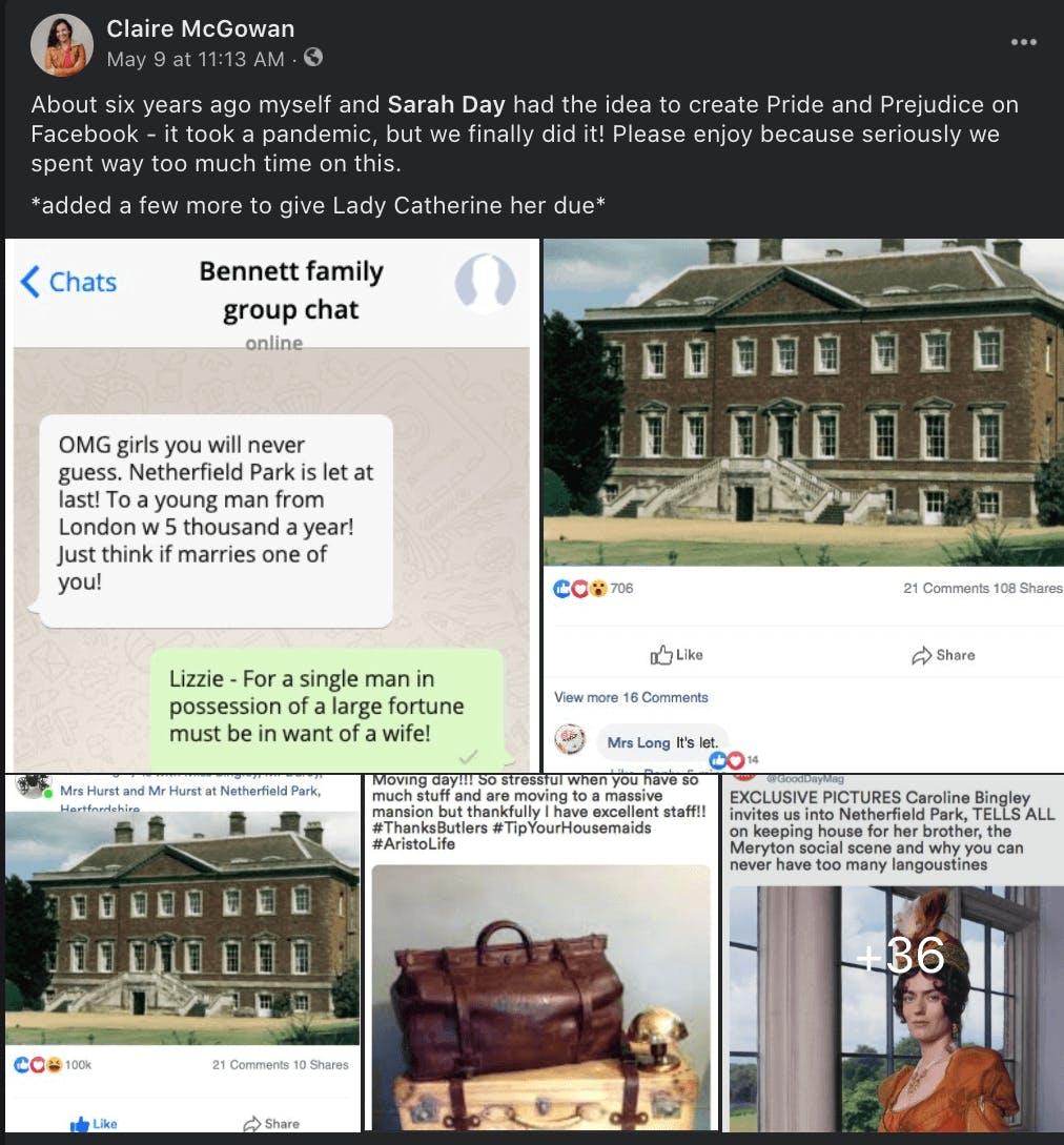 pride and prejudice facebook