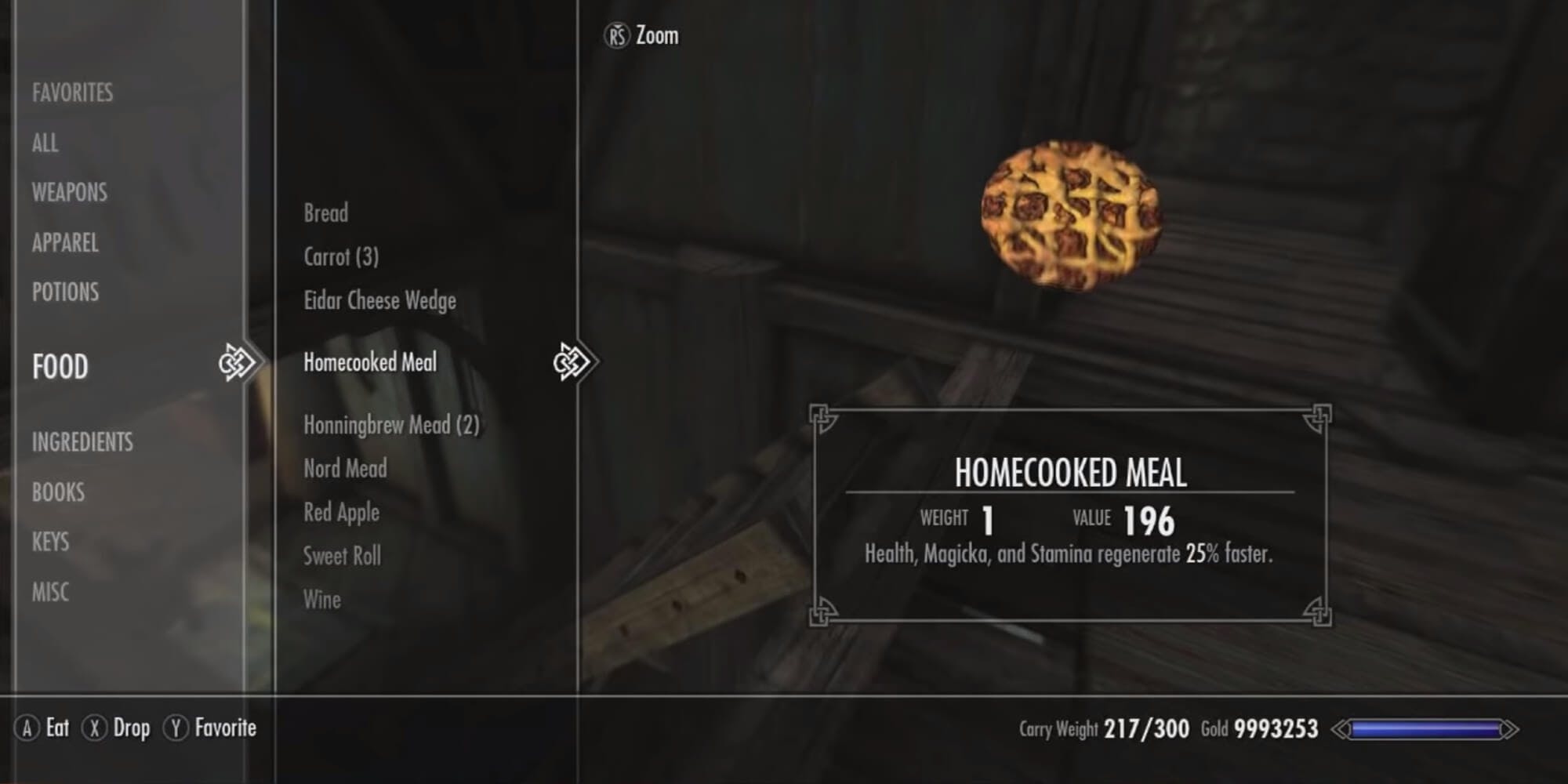 Skyrim - Homecooked meal