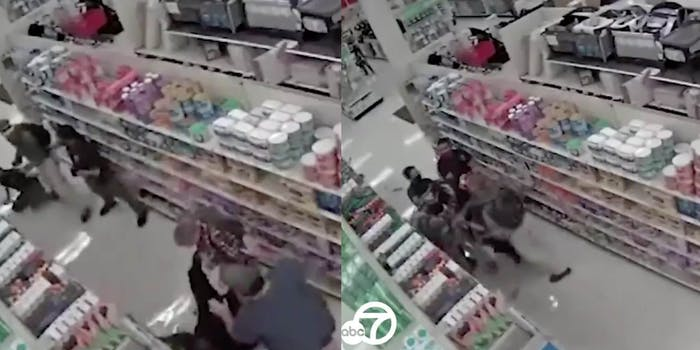 video of brothers fighting target employee's arm