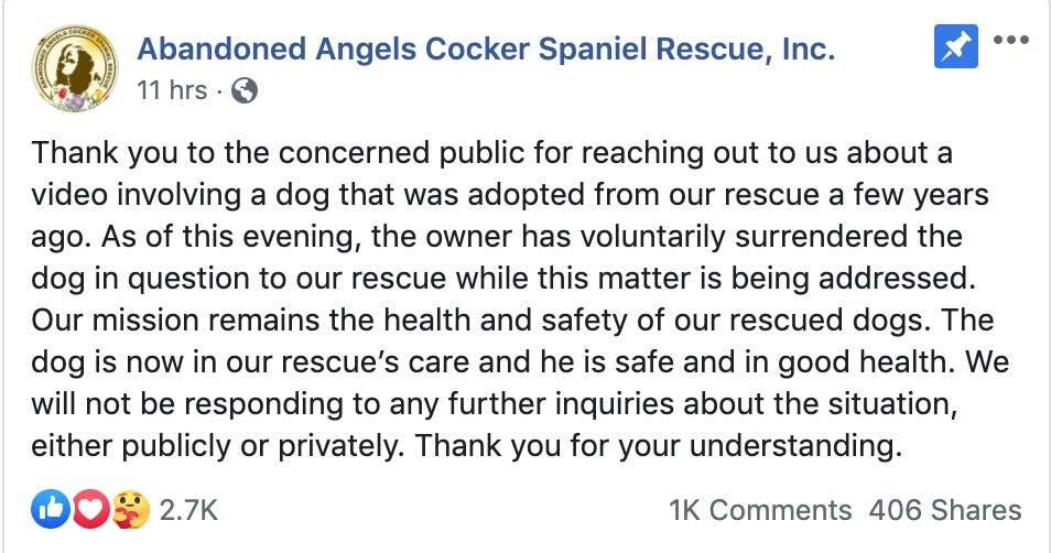 Central Park Karen - rescue