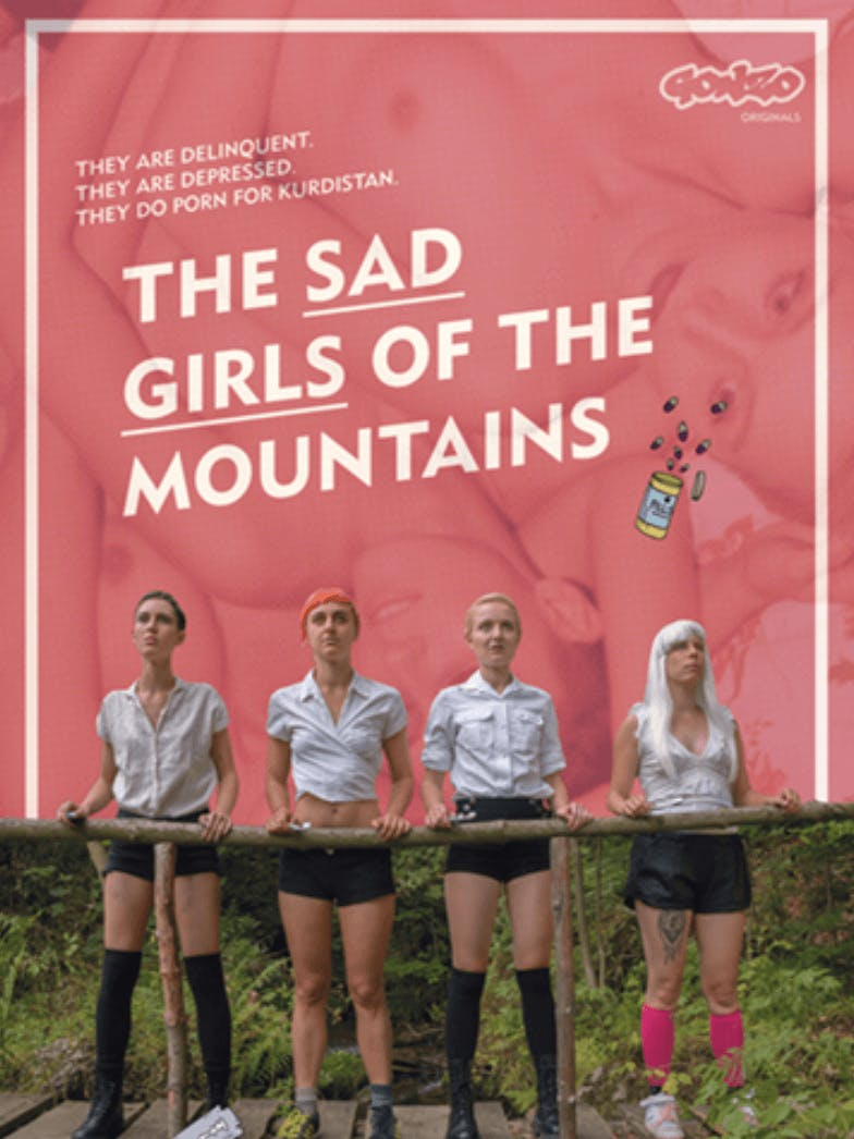 """Cover of the lesbian porn movie """"The Sad Girls of the Mountains"""""""