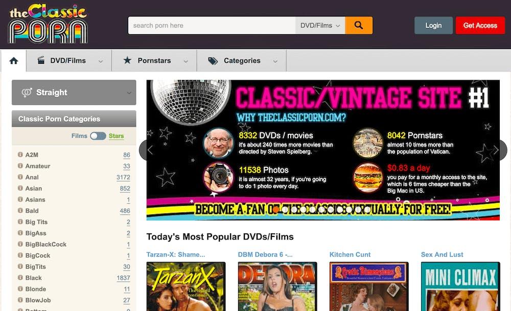 best vintage porn sites - the classic porn