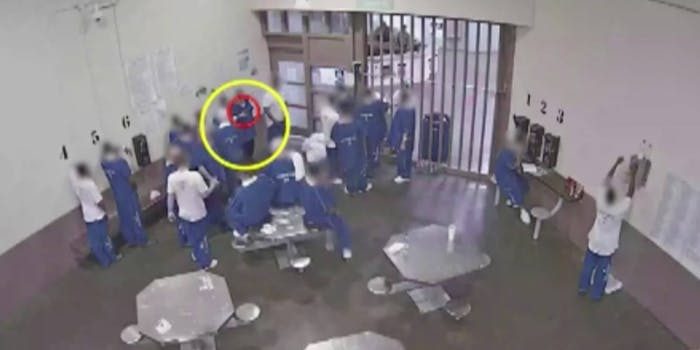 Security footage of inmates in an L.A. jail