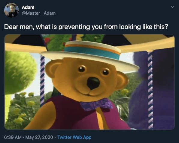 dear men tweet bear
