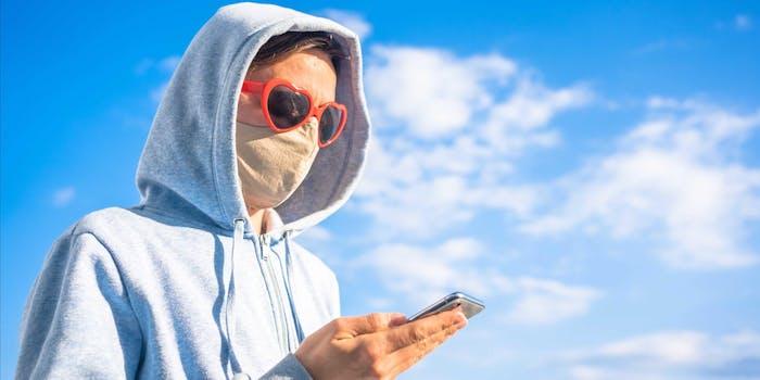 facemask selfie facial recognition